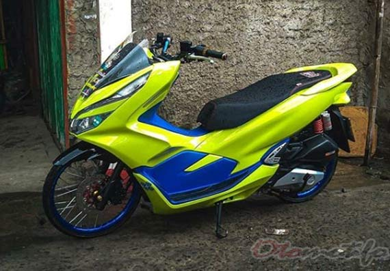 Modifikasi PCX Kuning