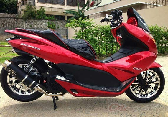 Modifikasi PCX Merah